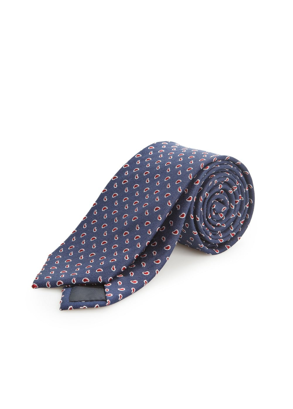 Paisley silk cotton-blend tie | MANGO