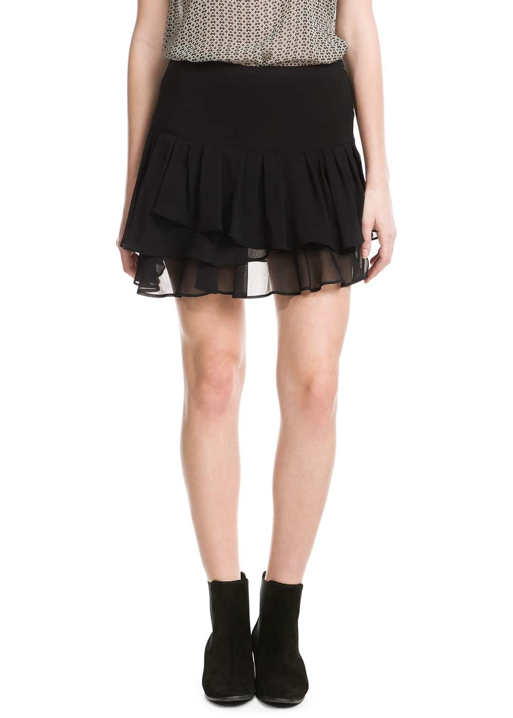 Ruffled skirt | MANGO