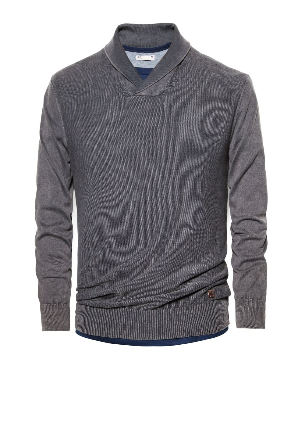 Pull-over coton col smoking