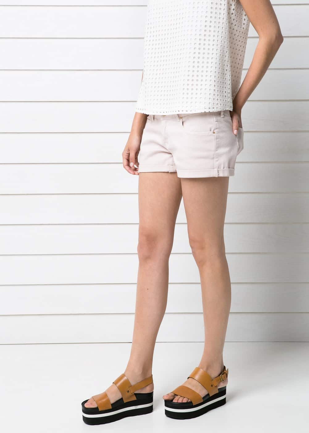 Short denim rosa | MANGO