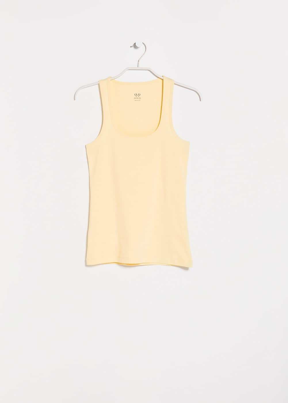 Strap cotton t-shirt | MANGO