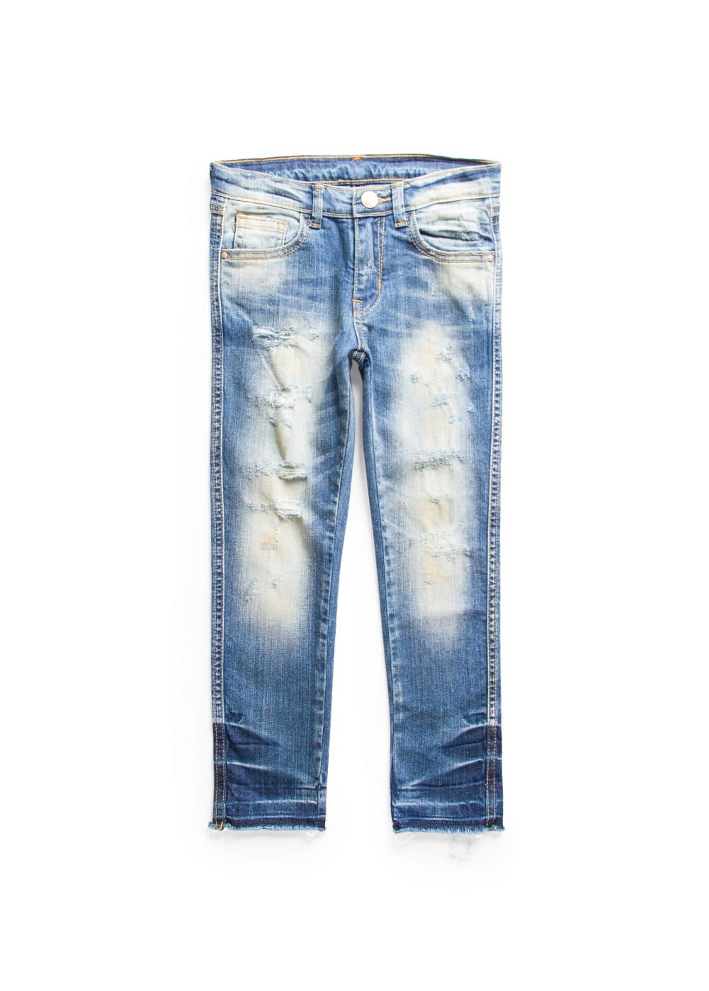 Slim-fit vintage wash jeans