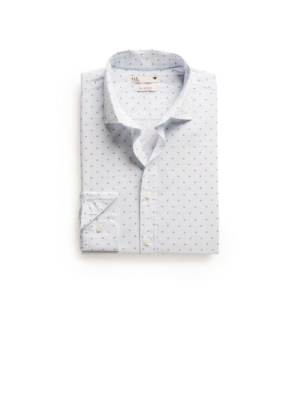 Camisa slim-fit micro rayas estampada