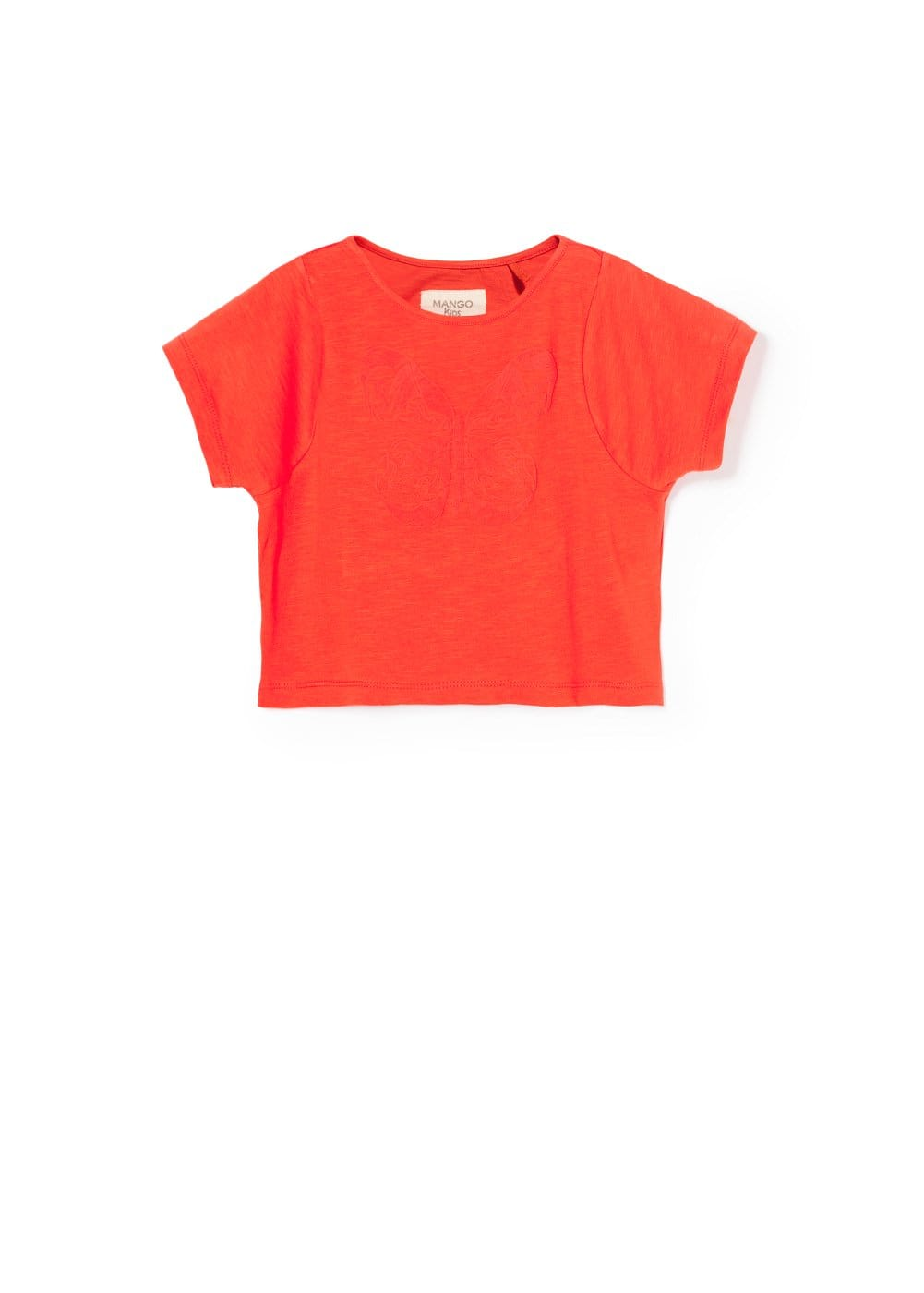 Butterfly cropped t-shirt | MANGO KIDS