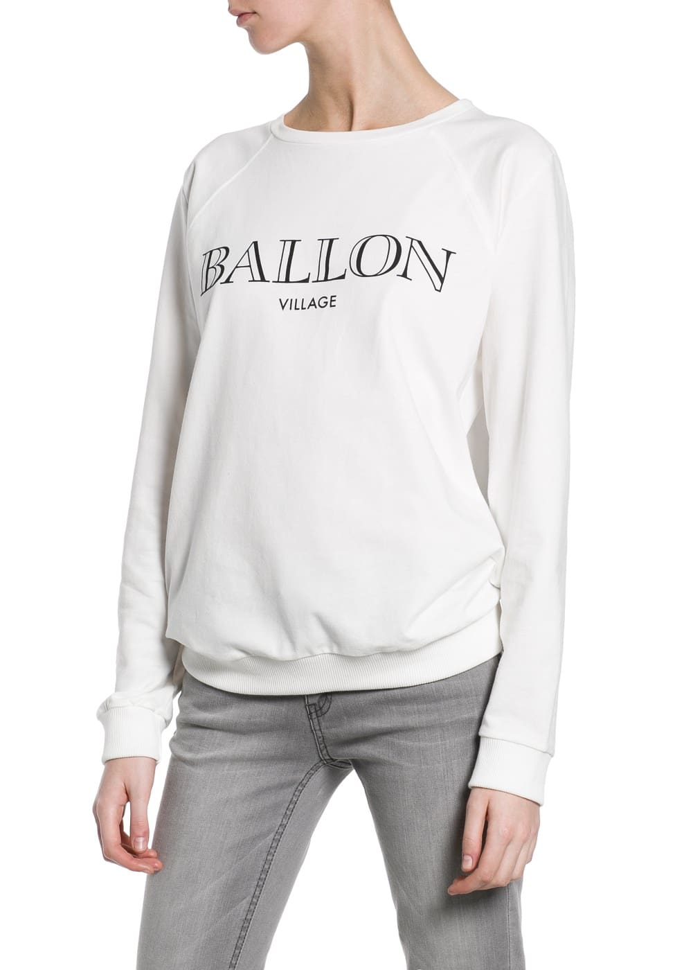 Ballon cotton sweatshirt | MANGO