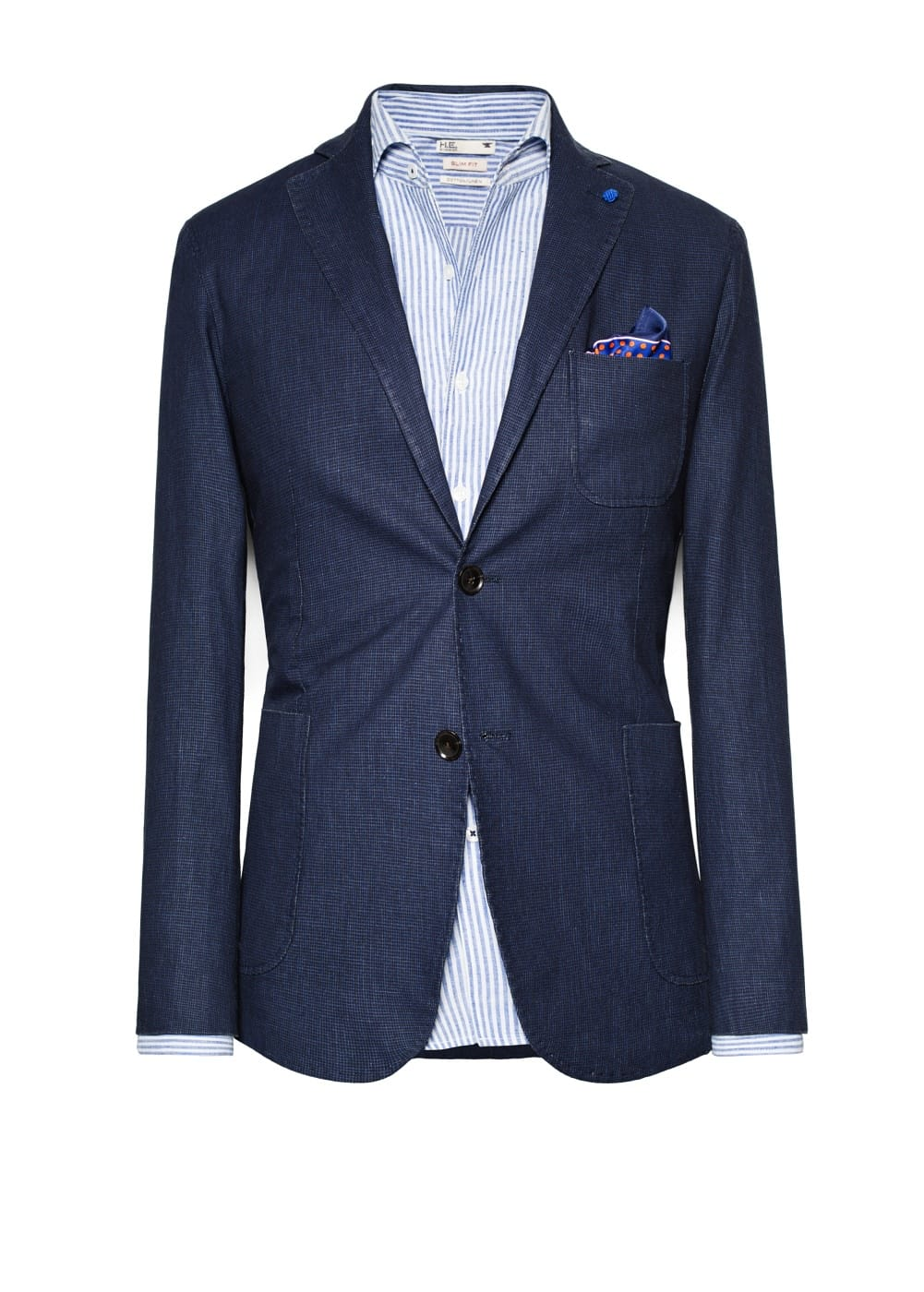 Slim-fit houndstooth blazer