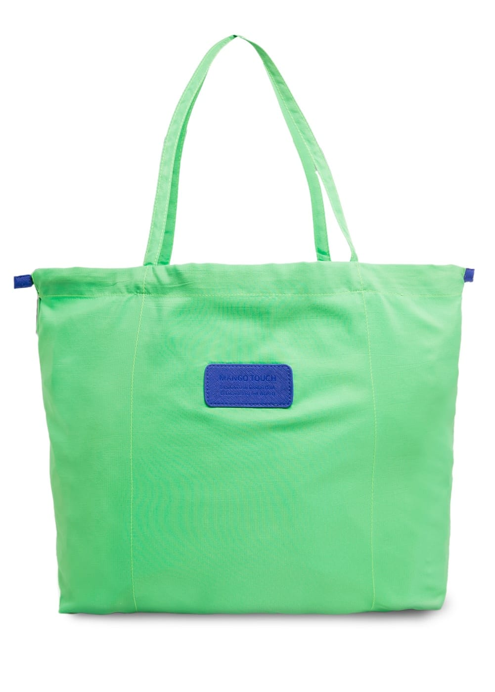 Drawstring shopper bag