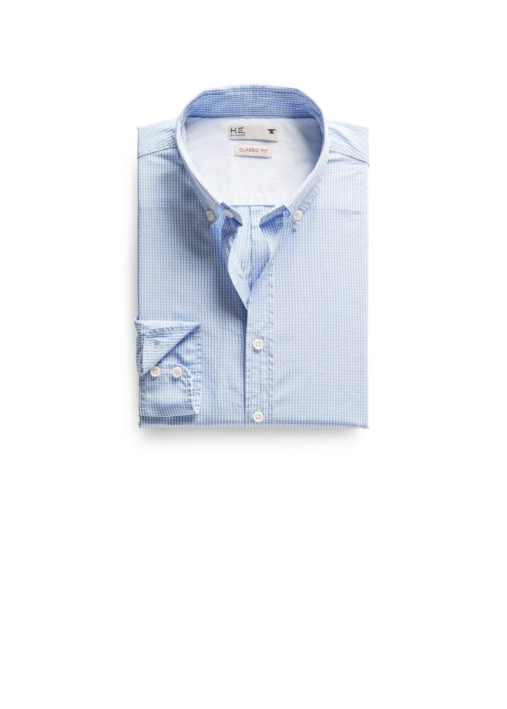 Classic-fit gingham check shirt | MANGO