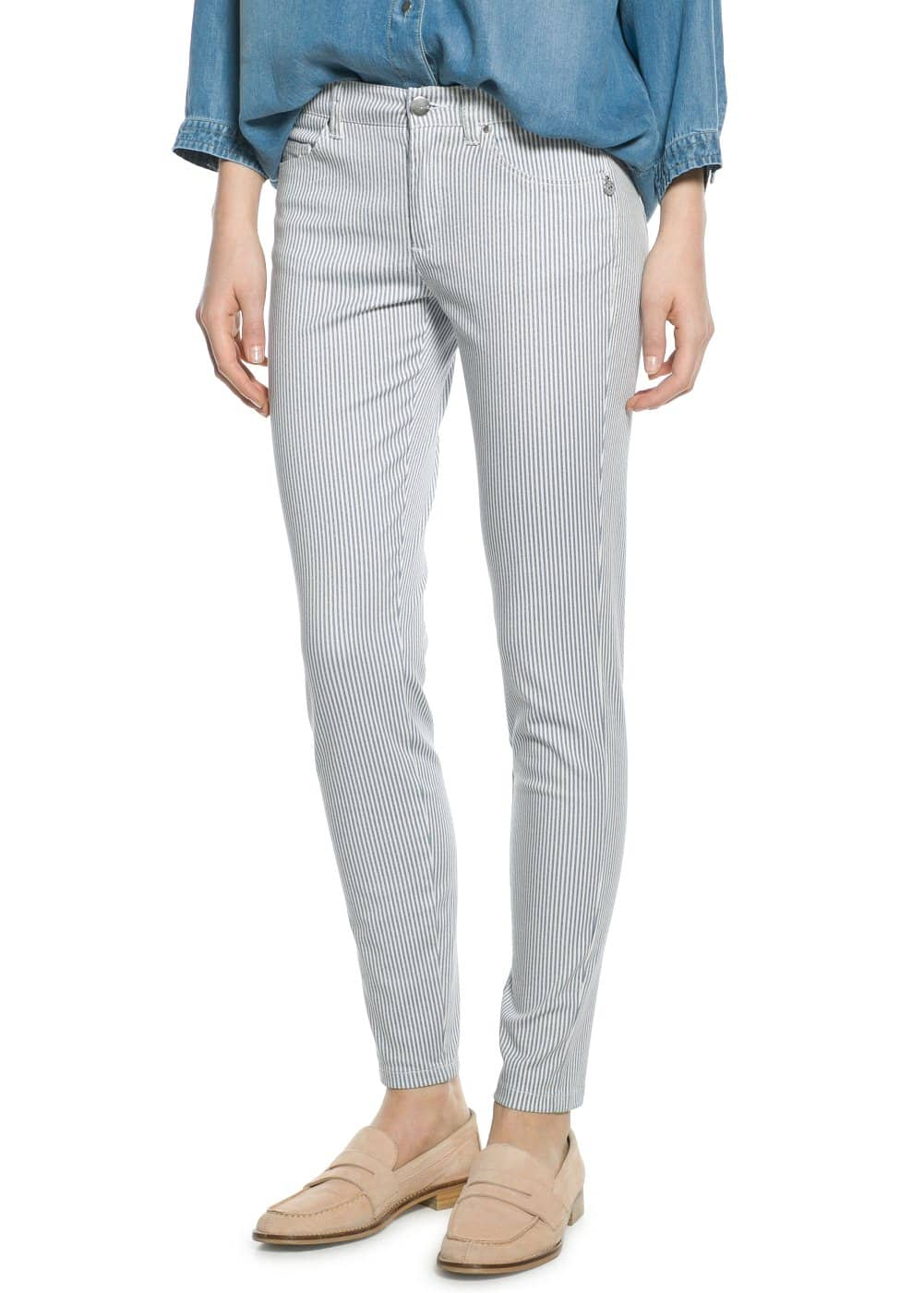 Printed slim-fit trousers | MANGO
