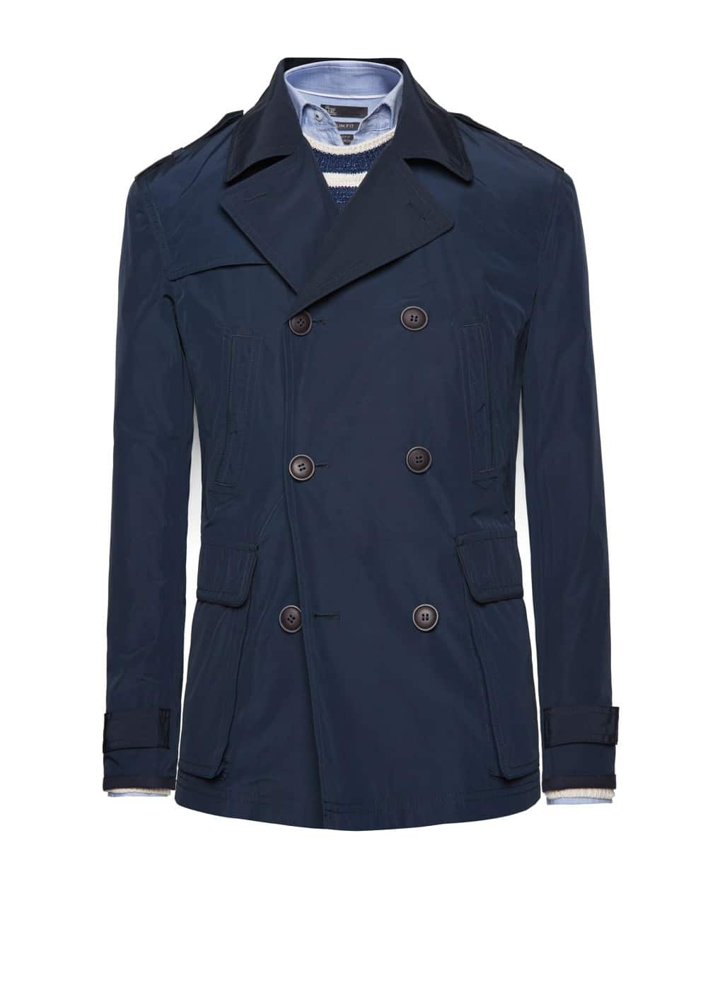 Trim technical peacoat