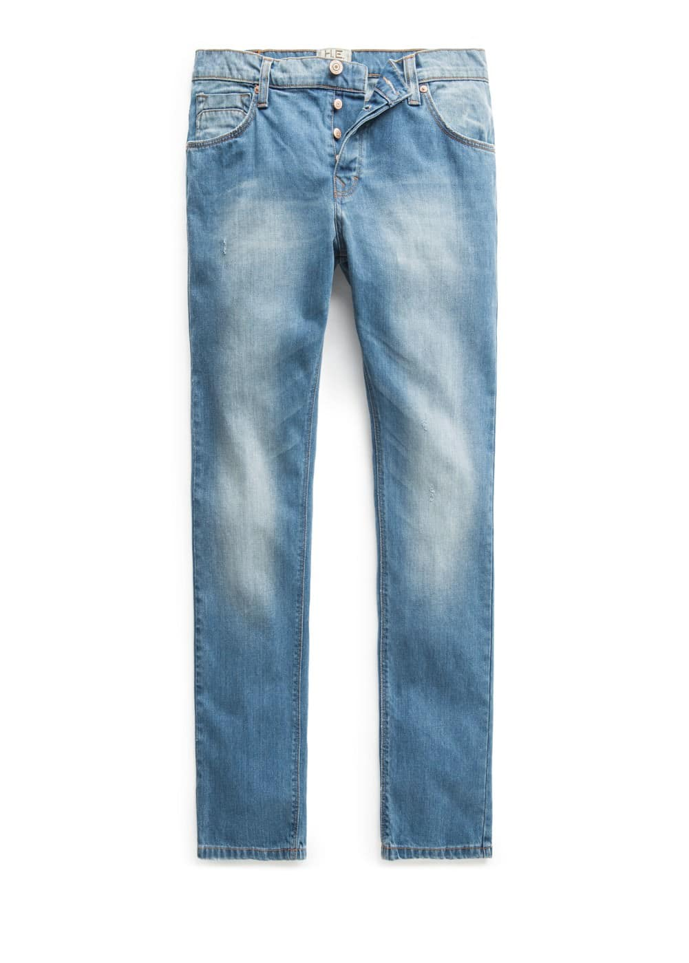 Straight-fit medium wash Bob jeans
