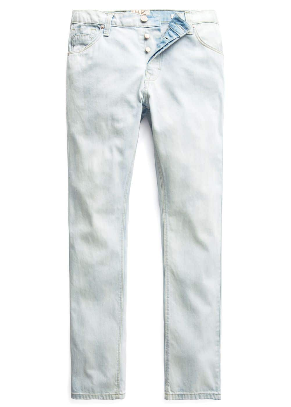 Straight-fit bleached Bob jeans