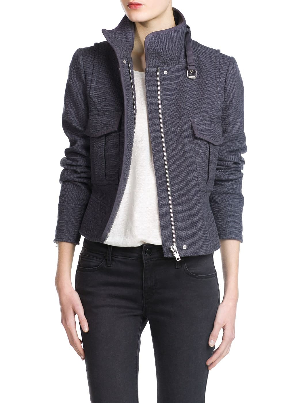 Textured cotton jacket | MANGO
