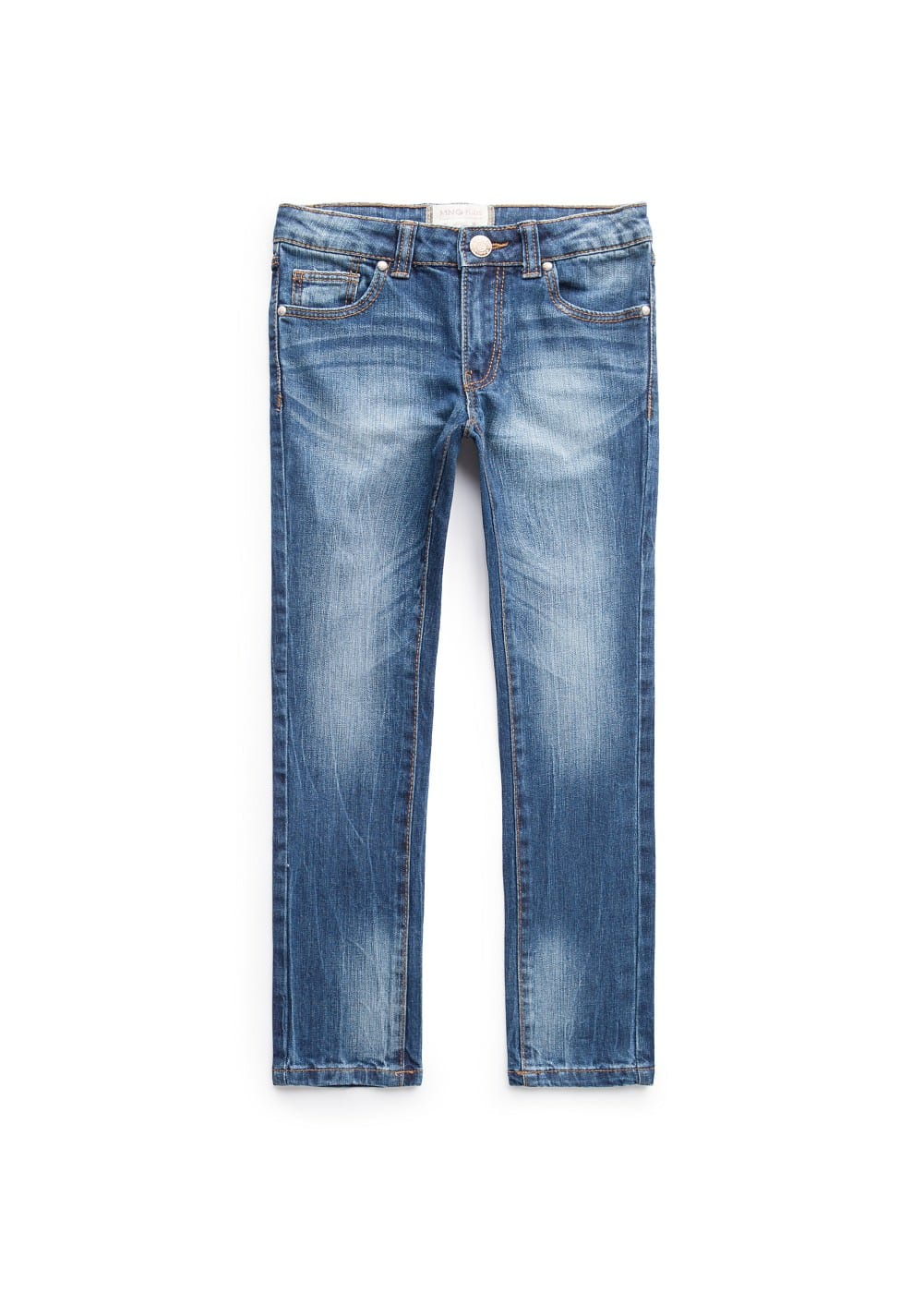 Slim-fit dark wash jeans