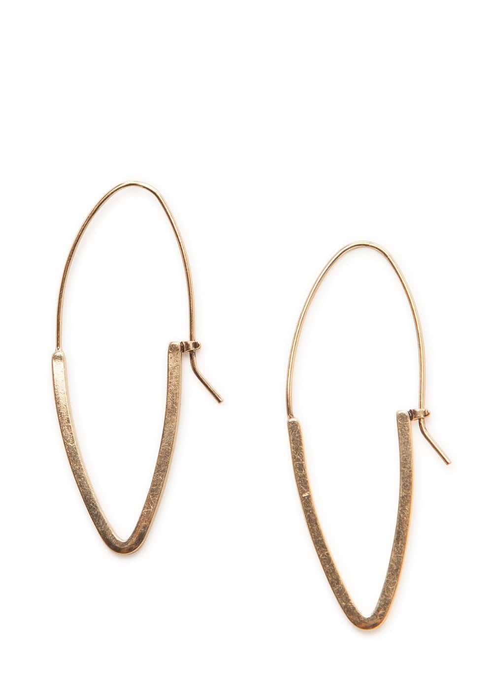 Oval hoop earrings | MANGO
