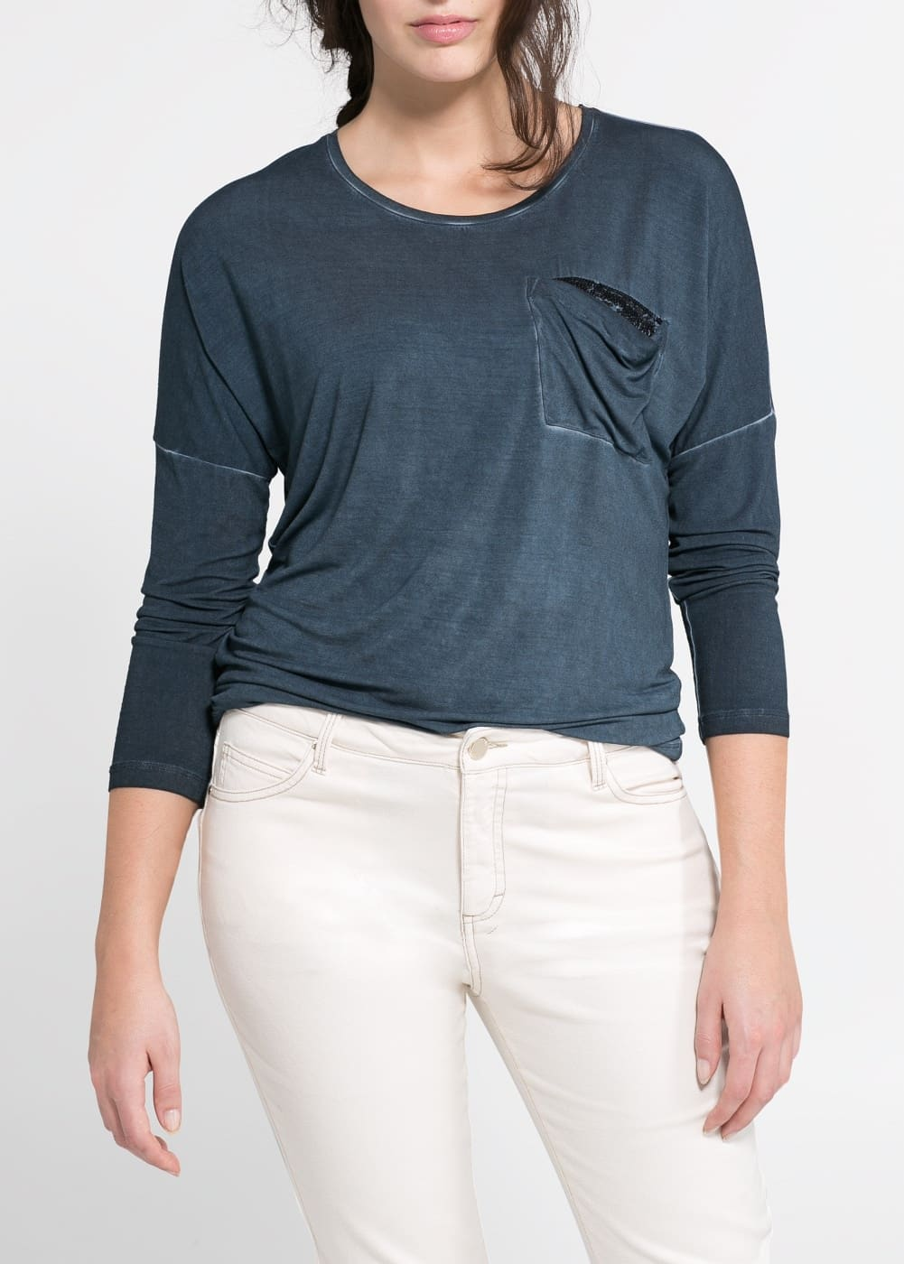 Sequin pocket t-shirt
