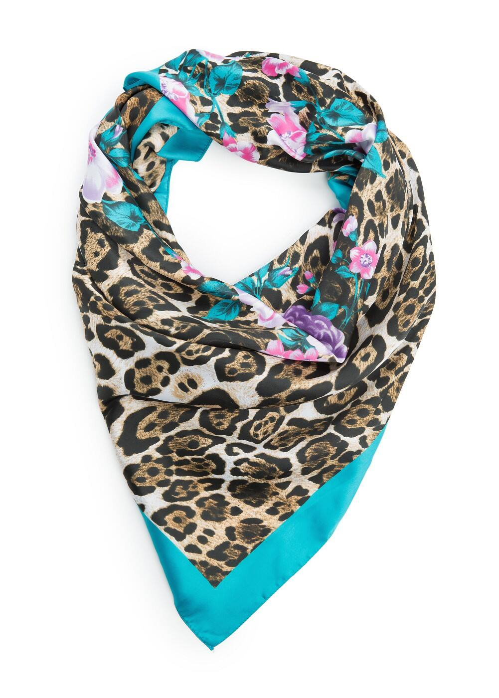 Mixed print scarf