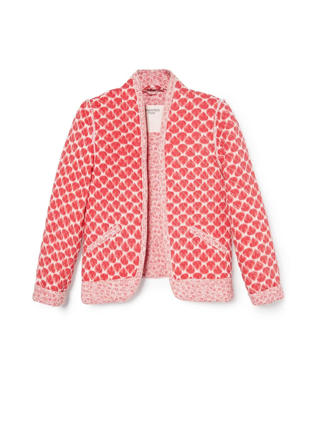 Printed quilted jacket | MANGO