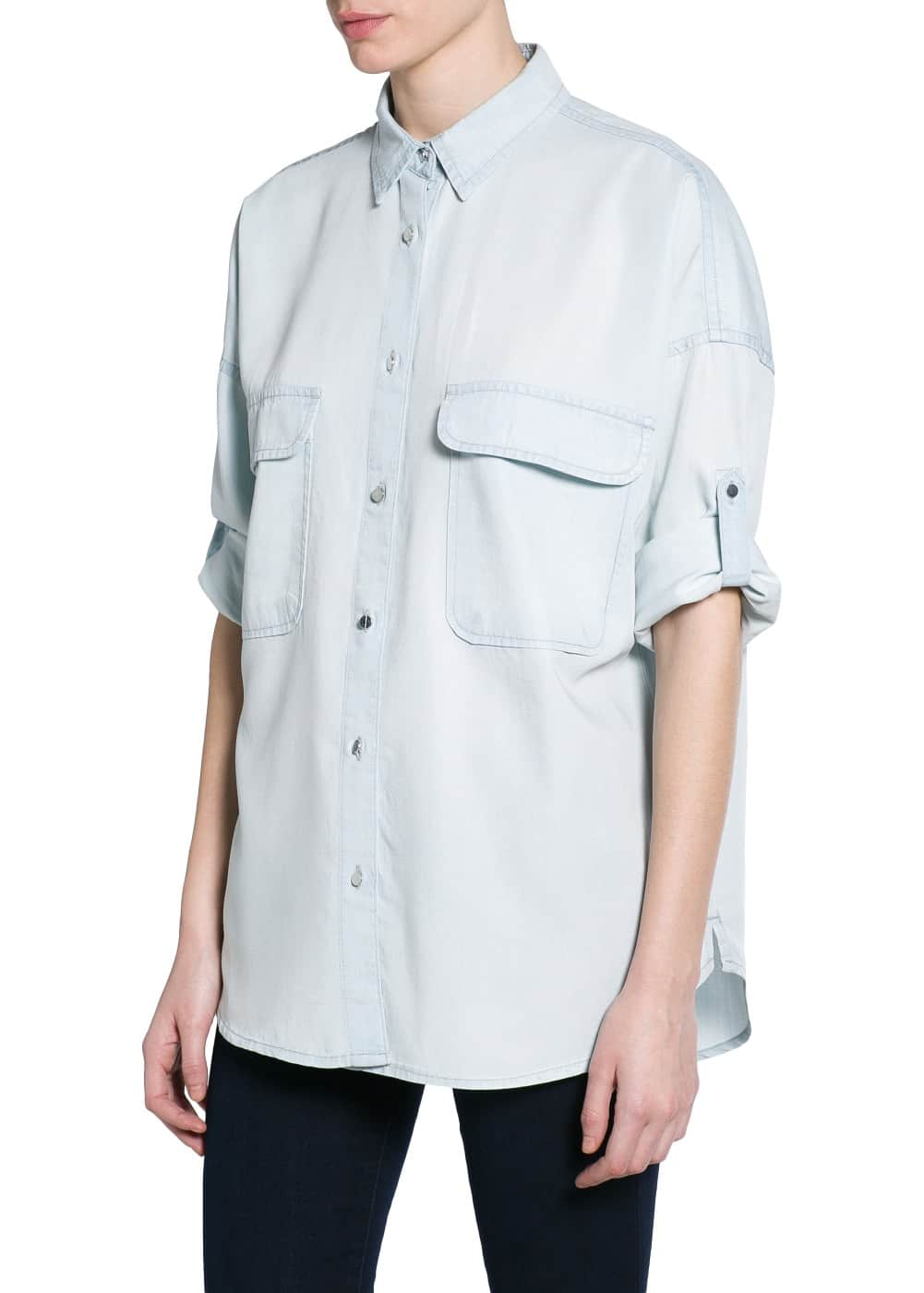 Two-pocket soft fabric shirt