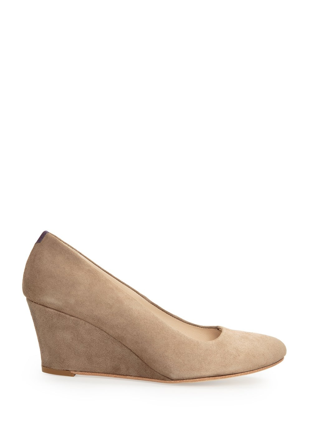 Suede wedge shoes | MANGO