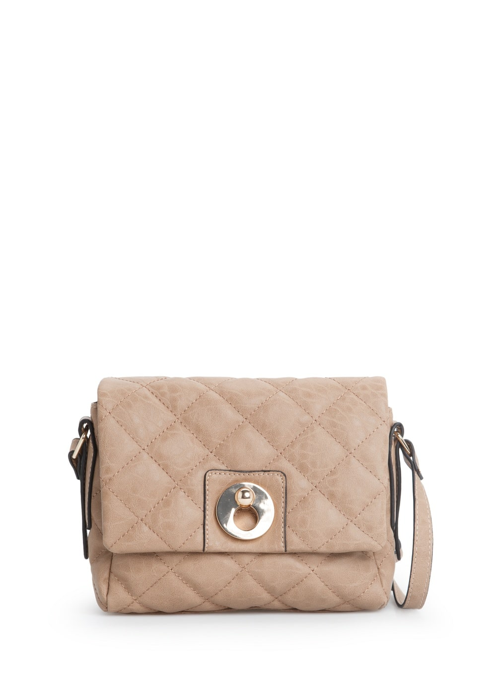 Quilted mini cross body bag