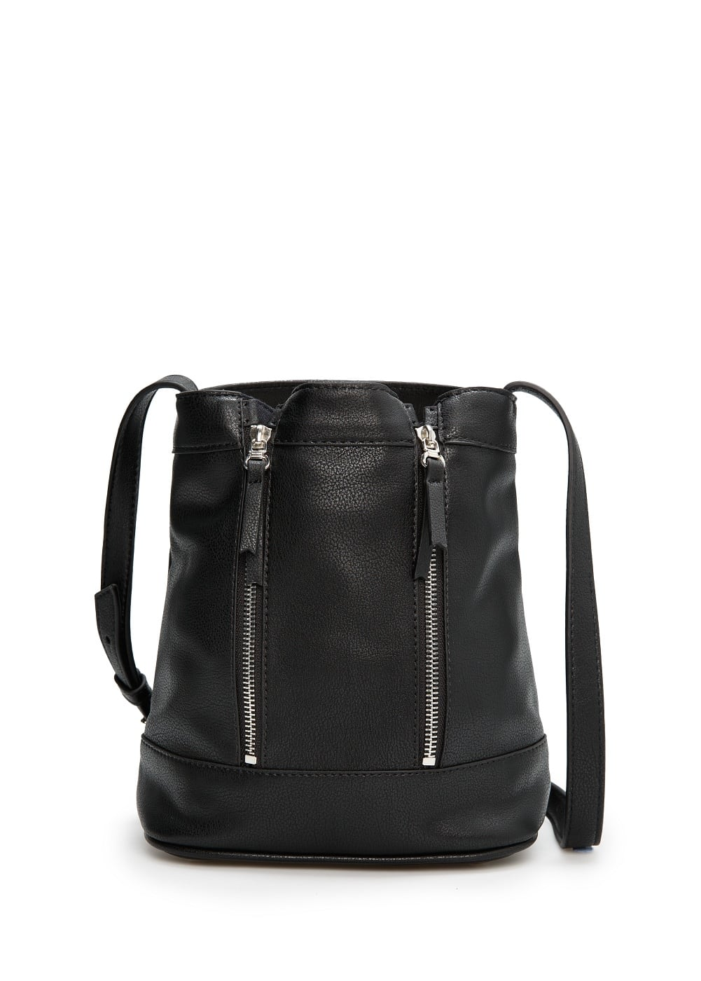 Zip bucket bag