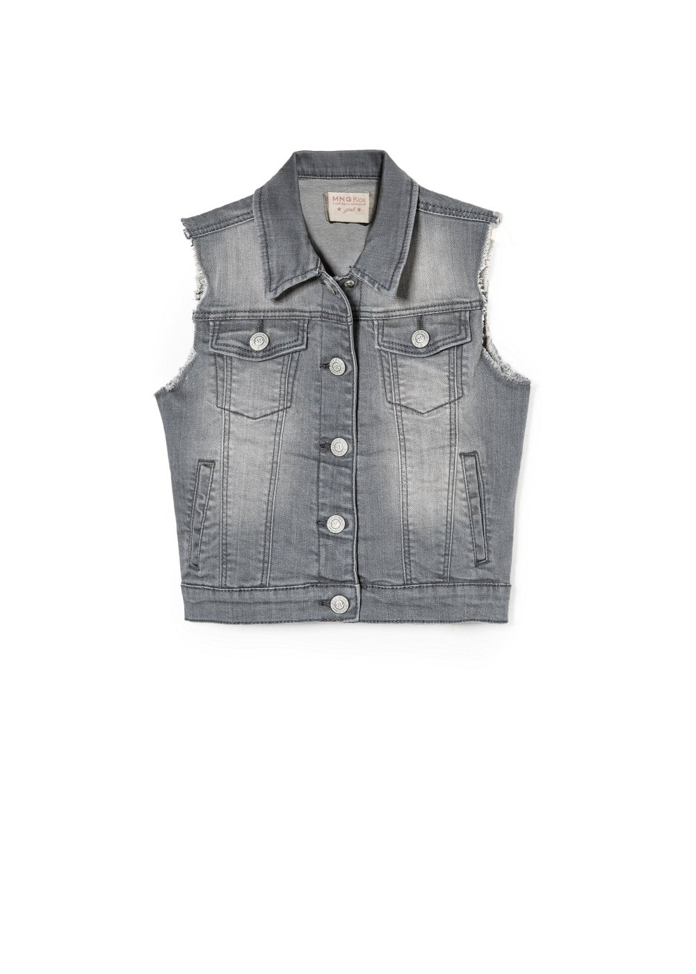 Grey denim vest