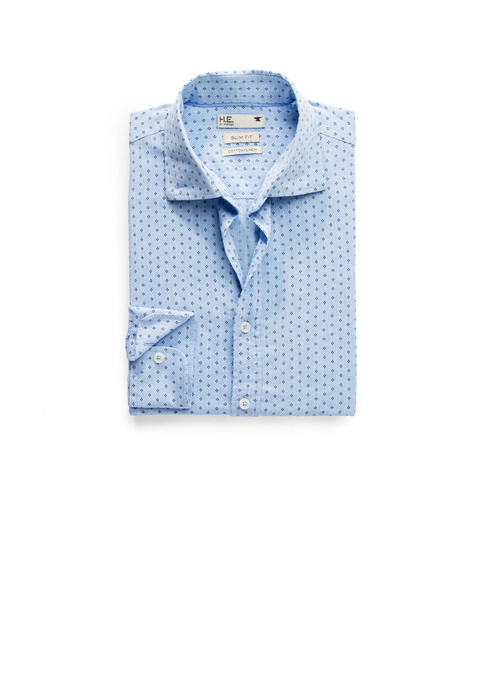Chemise slim-fit lin à imprimé cravate