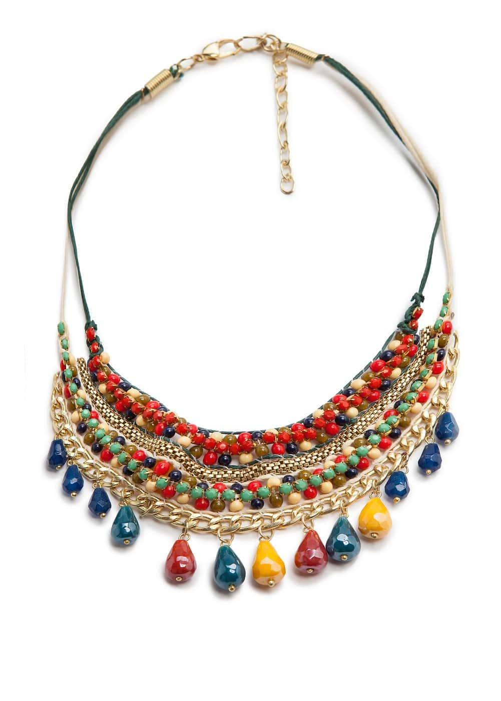 Collar multicolor abalorios
