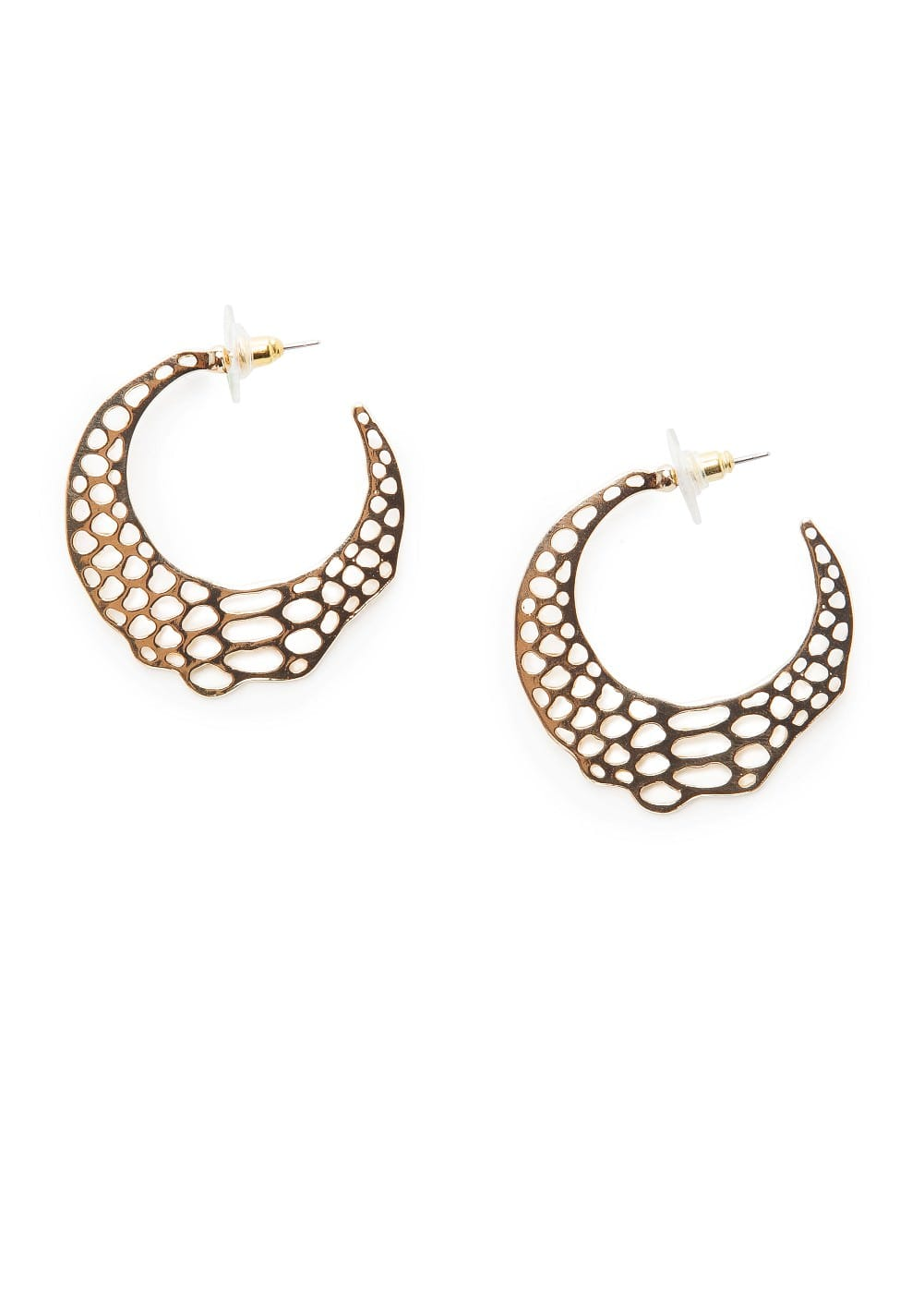 Laser-cut hoop earrings | MANGO