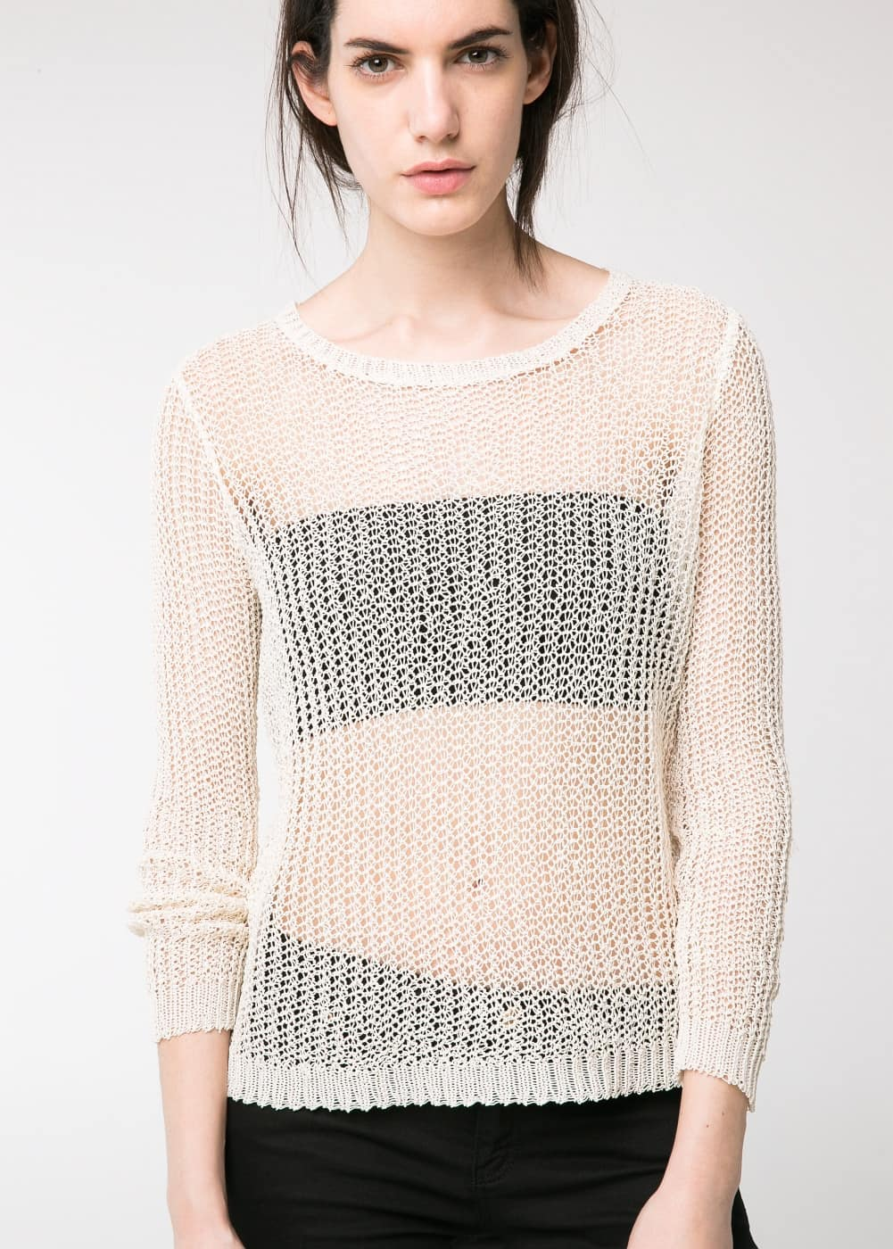 Open-knit sweater | MANGO