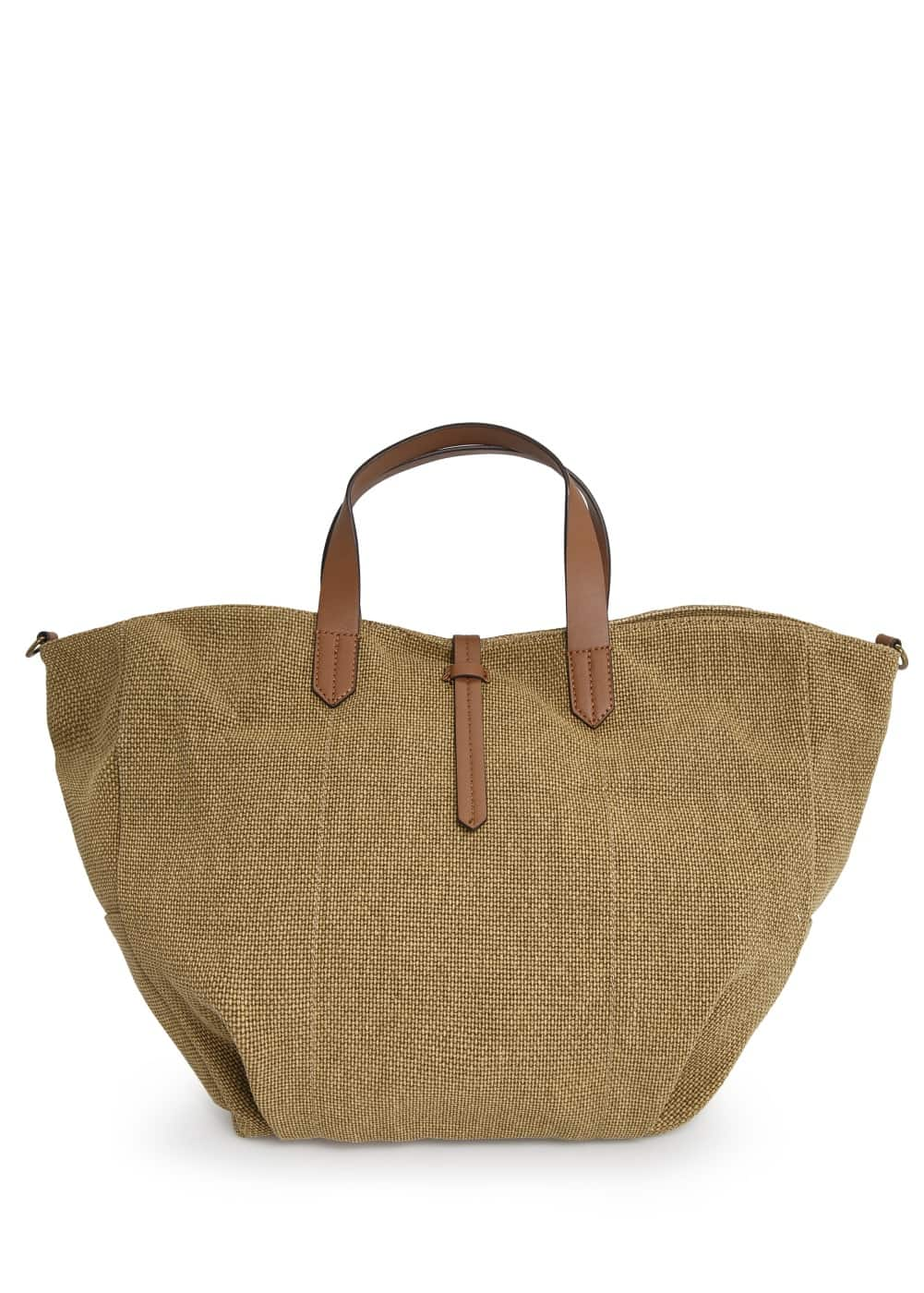 Canvas tote bag | MANGO