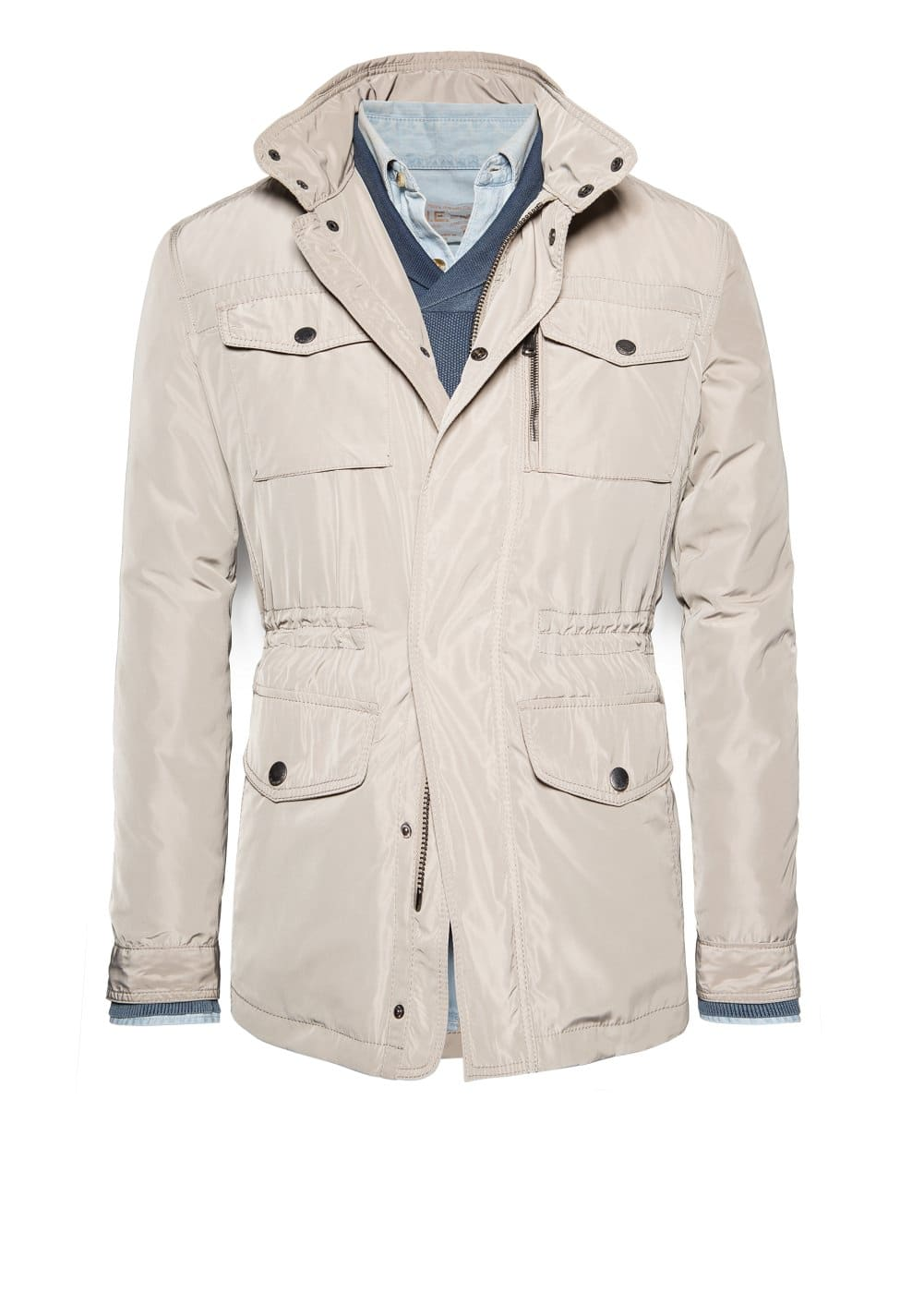 Quilted-lined field jacket | MANGO MAN