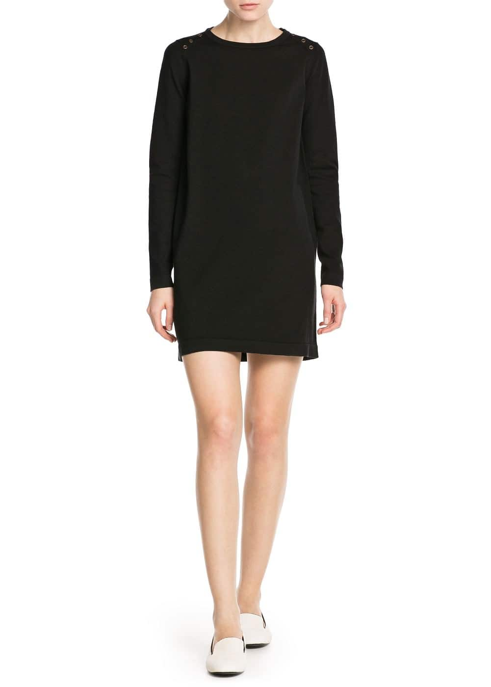 Button jersey dress | MANGO