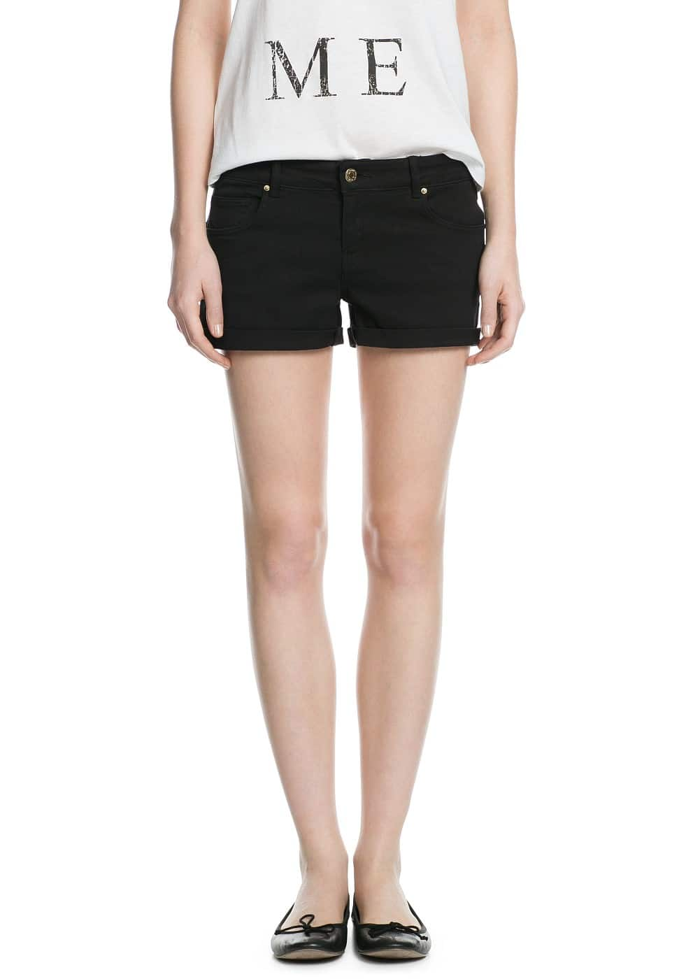 Black denim shorts | MNG