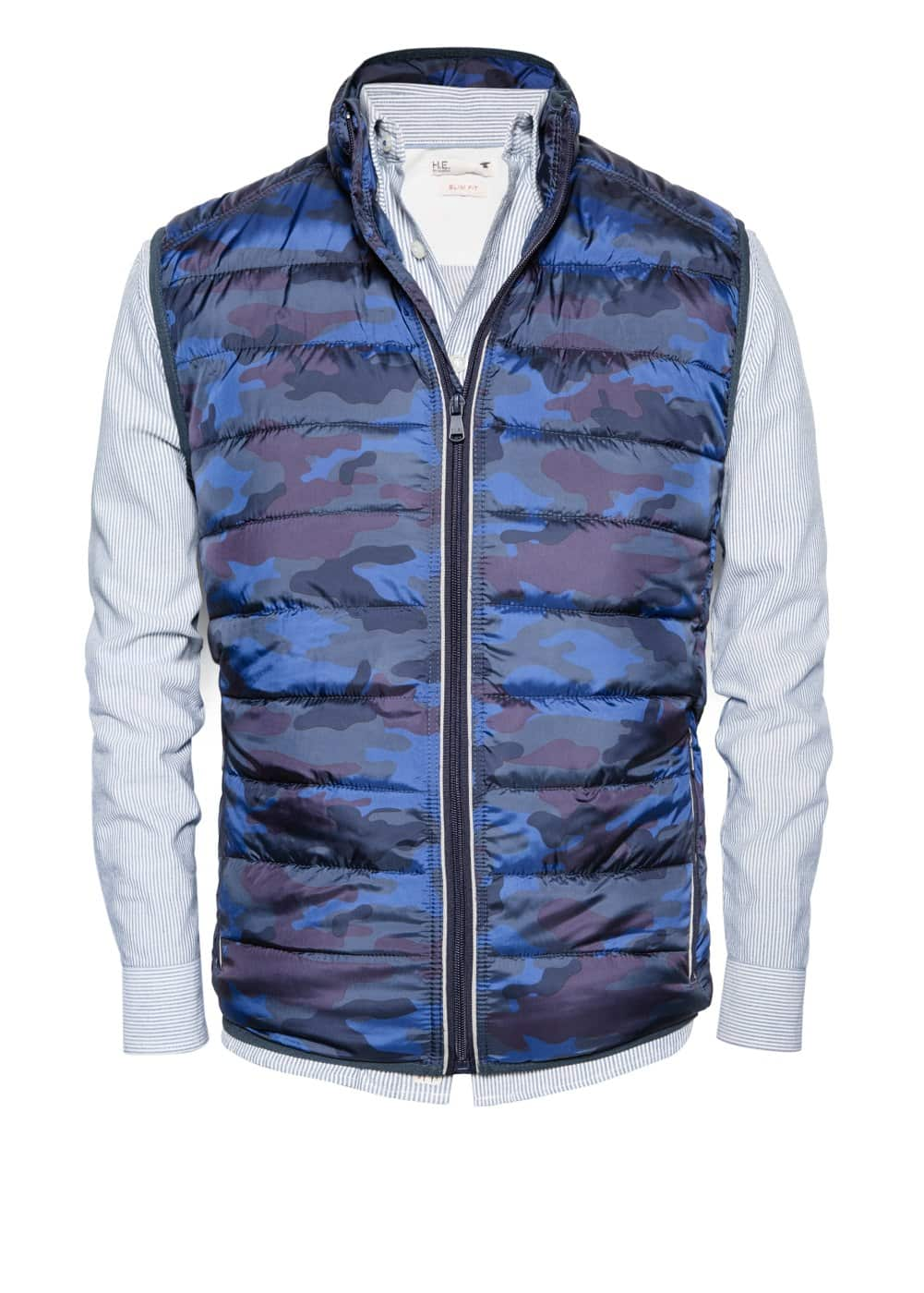 Printed quilted gilet | MANGO MAN