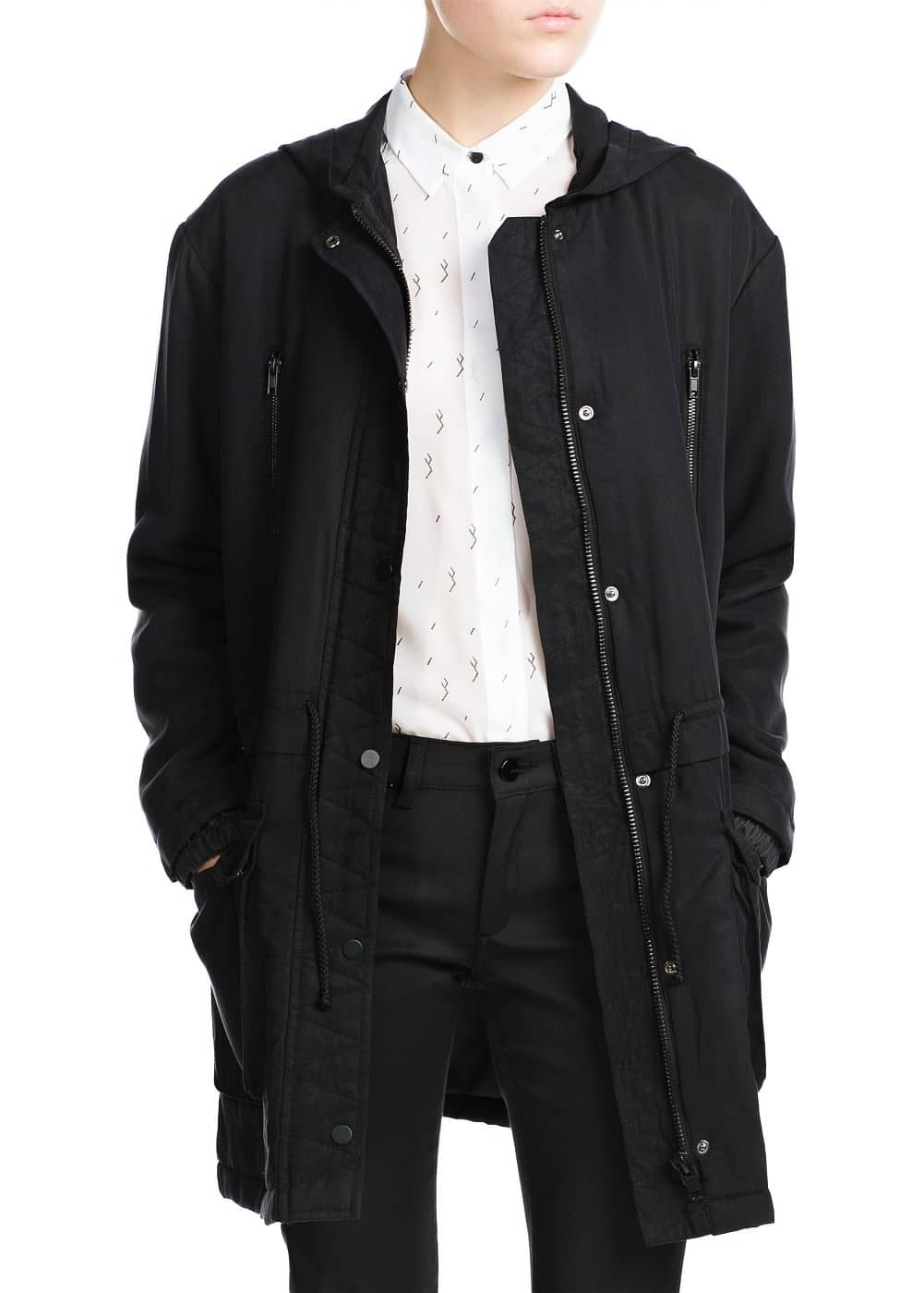 Soft fabric parka