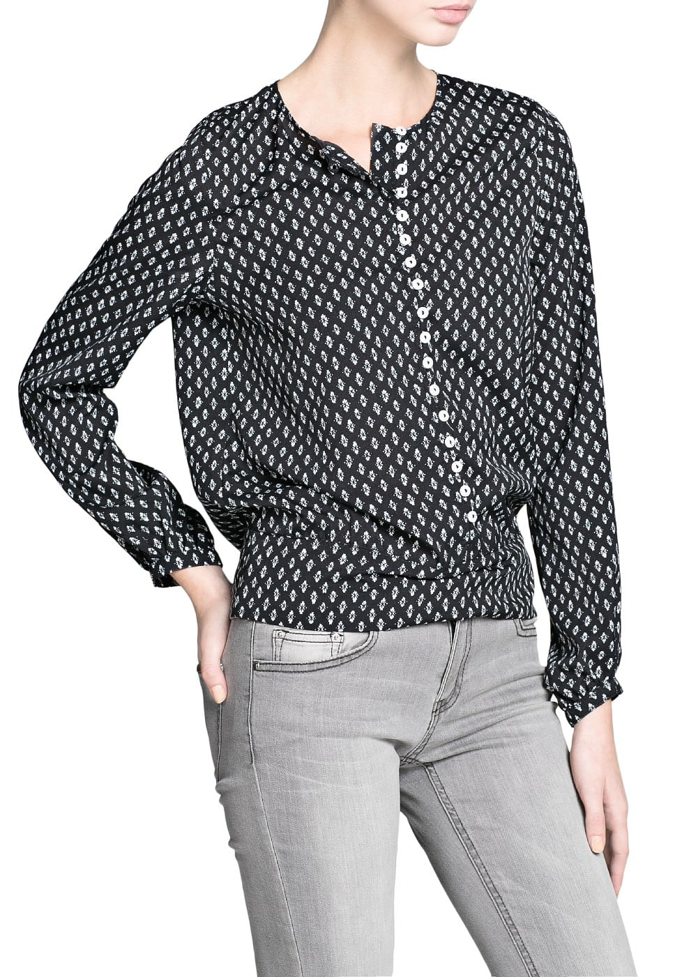 Blouse à imprimé cravate