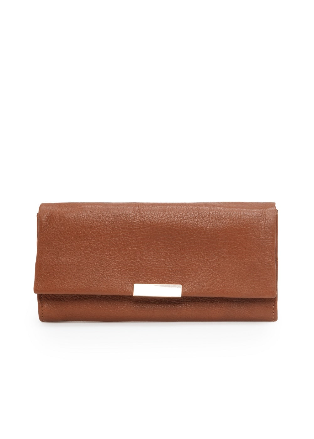 Flap leather wallet