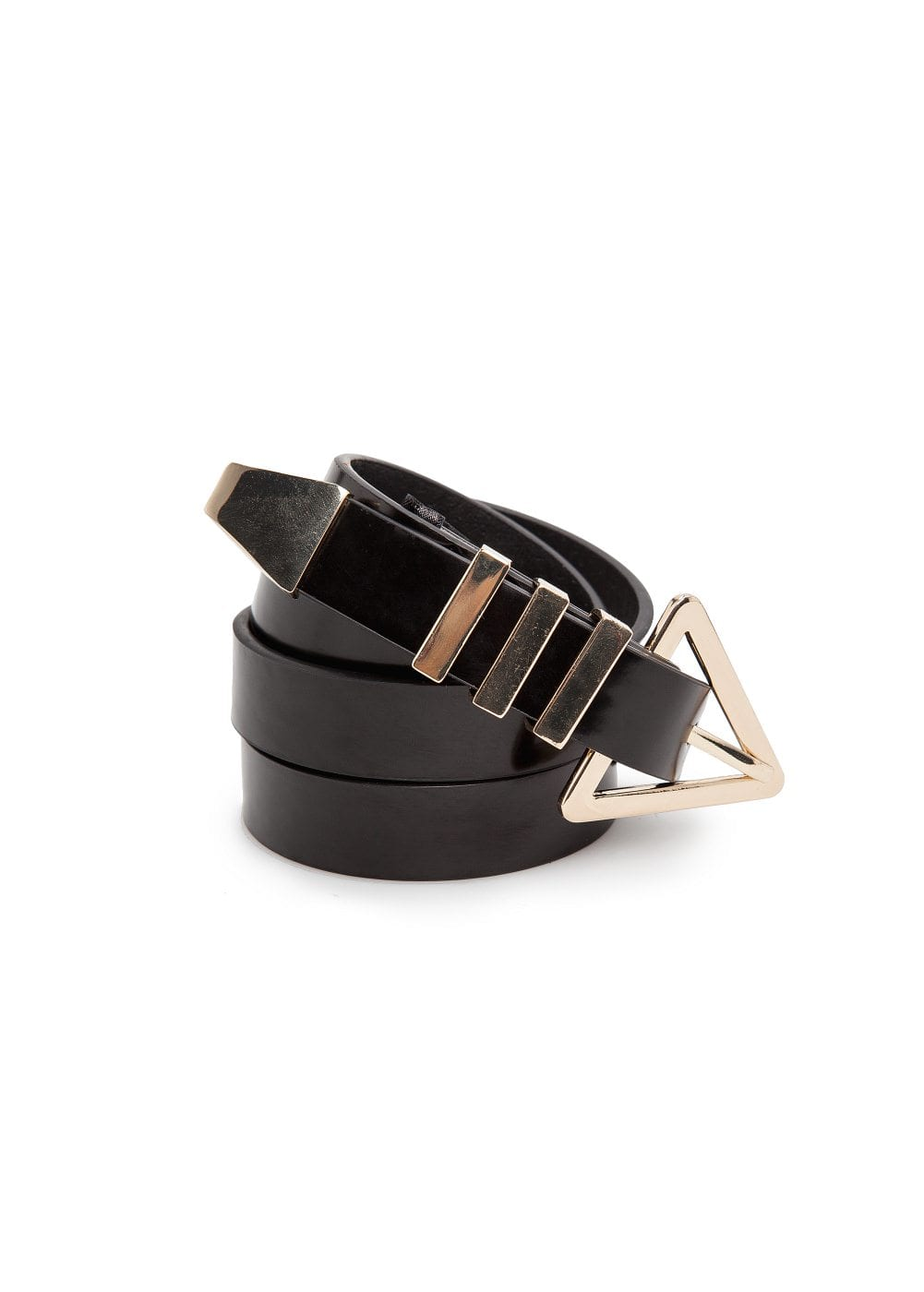 Triangular buckle belt