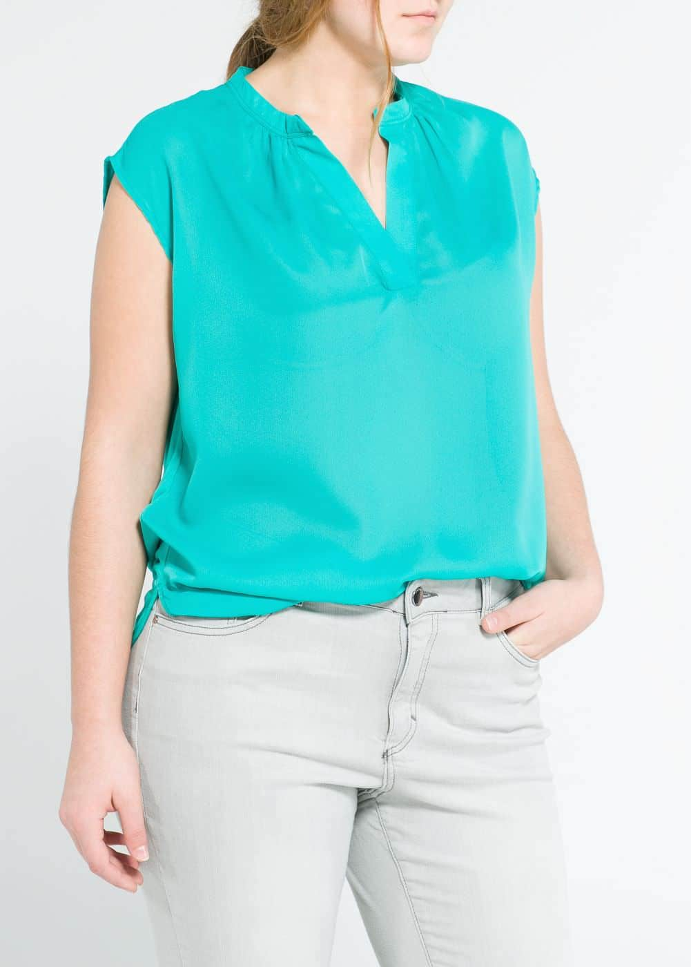 Contrast back blouse