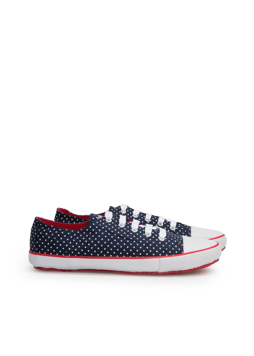 Lace-up canvas sneakers | MANGO