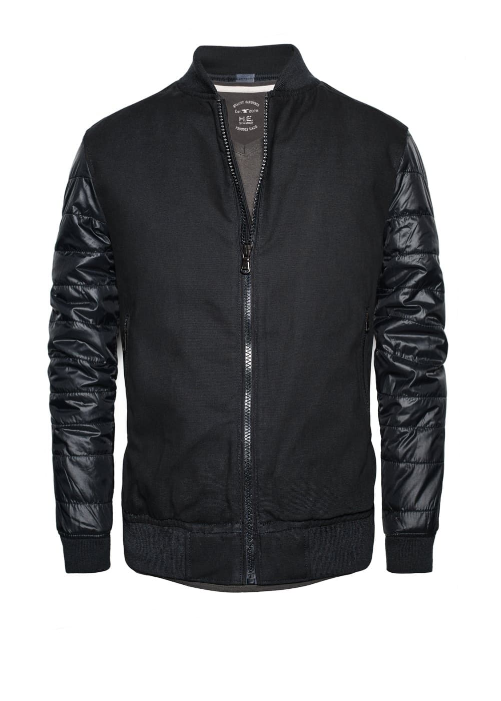 Quilted sleeve bomber jacket | MANGO