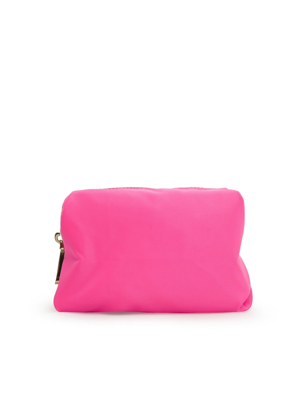 Zip nylon cosmetic bag