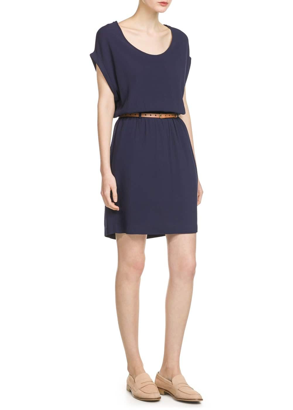 Detachable belt dress | MANGO