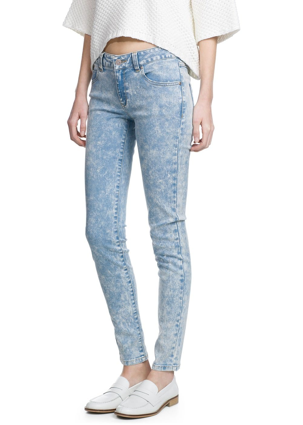 Super slim-fit pepper jeans | MANGO