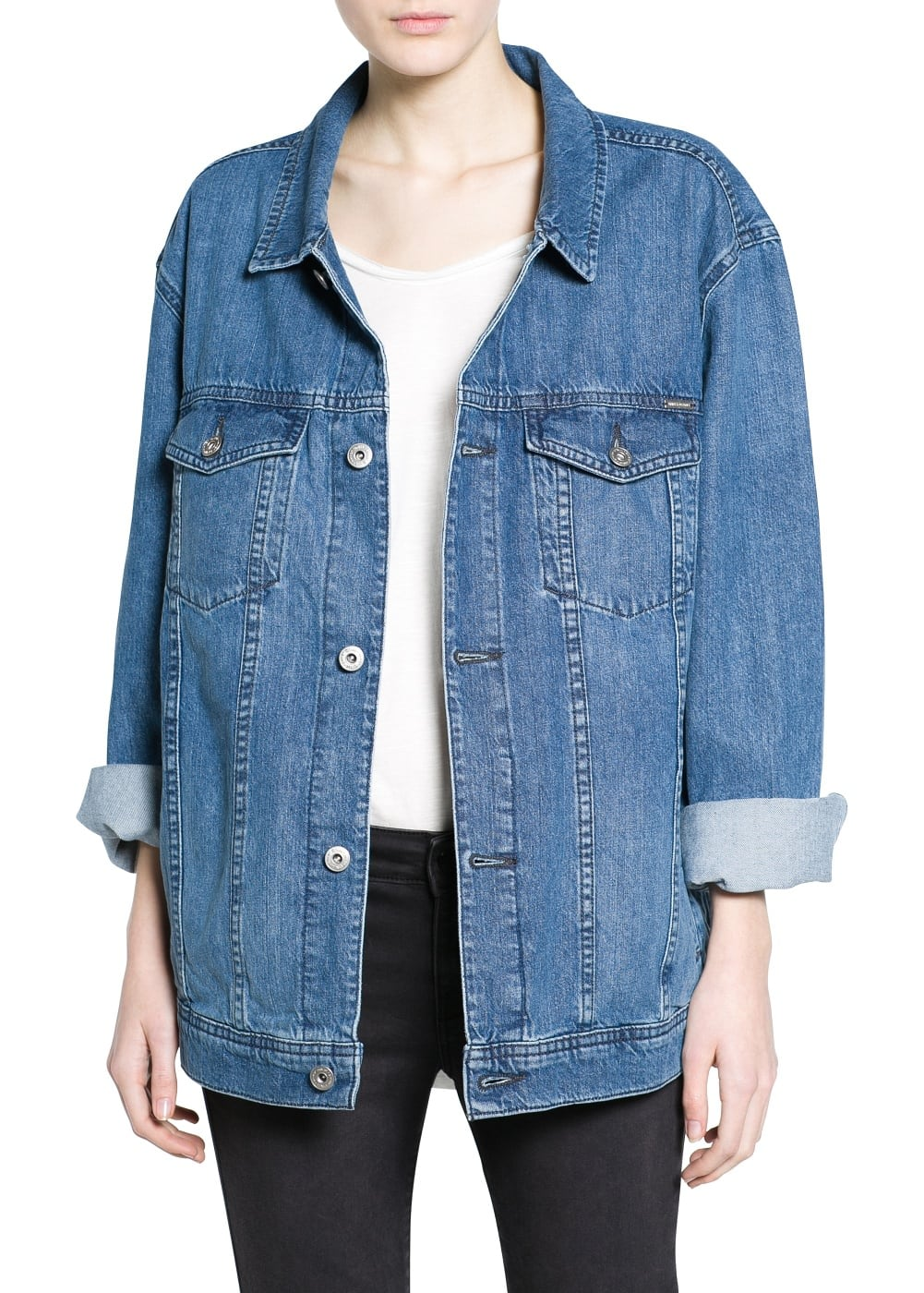Oversize denim jacket | MANGO MAN