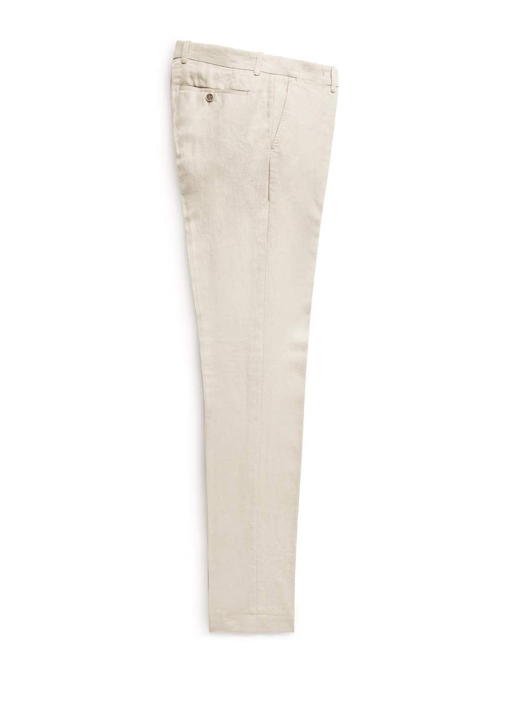 Linen cotton-blend suit trousers | MANGO