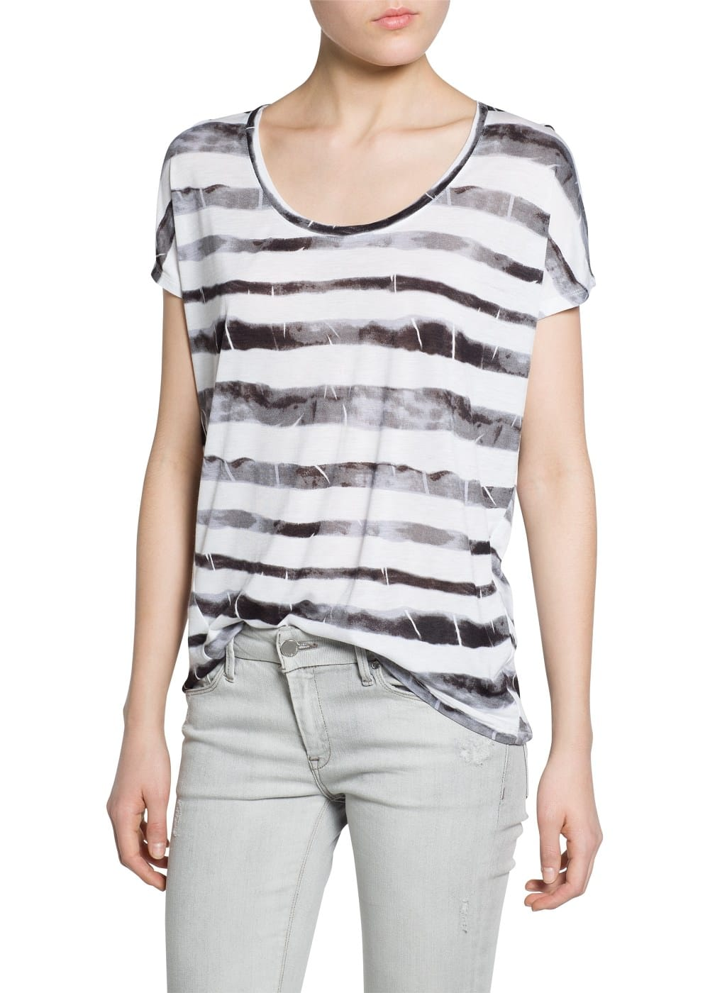 Tie-dye striped t-shirt