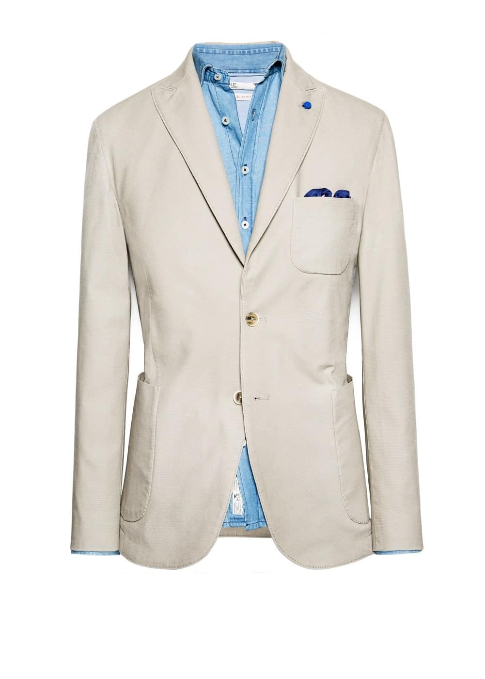Cotton canvas blazer | MANGO